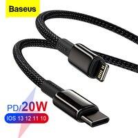 Baseus – câble USB type-c 20W PD pour recharge rapide et transfert de données, cordon de chargeur pour iPhone 13/12/Pro/XS/Max/XR/X, Macbook et iPad Mini
