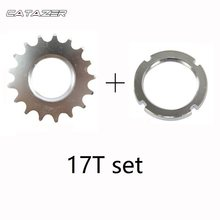 Cassette Cogs 13T/14T/15T/16T/17T/18T Fixed Gear Cogs Track Bike Single Speed Sprocket Freewheel with Lock Ring for 1/8