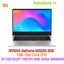 Xiaomi RedmiBook מחשב נייד Pro 14.0 אינץ i5-10210U i7-10510U NVIDIA GeForce MX250 8GB DDR4 RAM 512GB SSD Ultra דק מחברת(China)