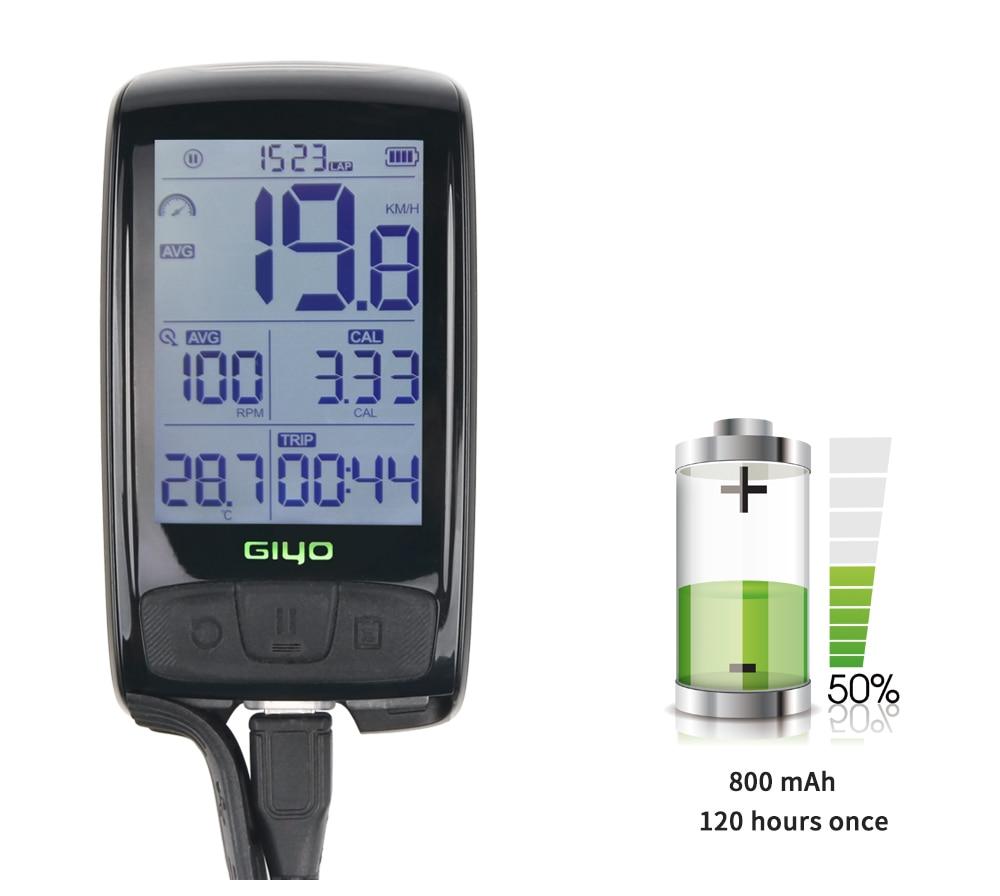 GIYO Bicycle Speedometer Waterproof Cycling Bike Computer Wireless Bluetooth4.0 Bicycle Computer Mount Holder Speed Odometer