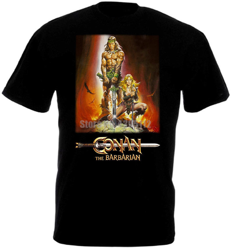 Conan The Barbarian Movie Poster Unisex Rock T-Shirts Gay Shirts Geek T Shirts Graphic Tshirt What A Successor Gkllnh image