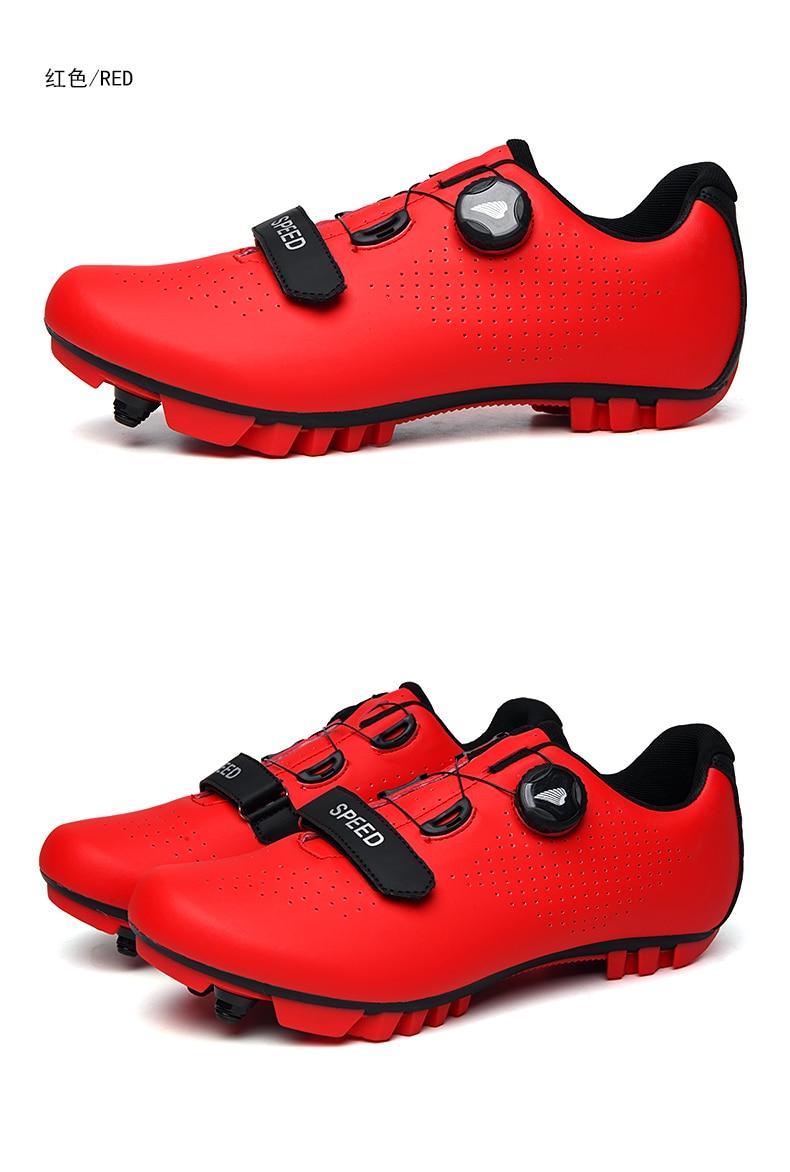 auto-bloqueio profissional tênis de bicicleta sapatos esportivos