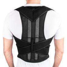 Postura traseira magnética ombro corrector suporte cinta cinto terapia masculino feminino
