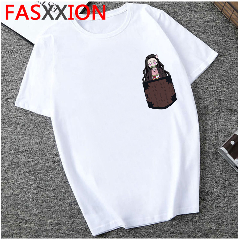 H11945ff276bf4bfb94af15c4ed11922aO - Demon Slayer T-shirt  Graphic Tees Men Streetwear  Japanese Anime Cool Tshirt Funny Cartoon Kimetsu No Yaiba T Shirt Male