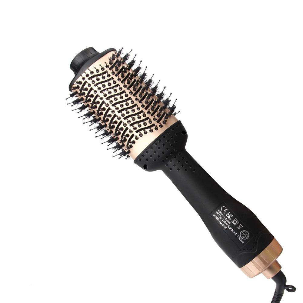 Professional CHJ Hair Hot Air Dryer Brush 4 In 1 Curling Iron Electric Rotating Wave Curlers Rollers Hair Styling Tools