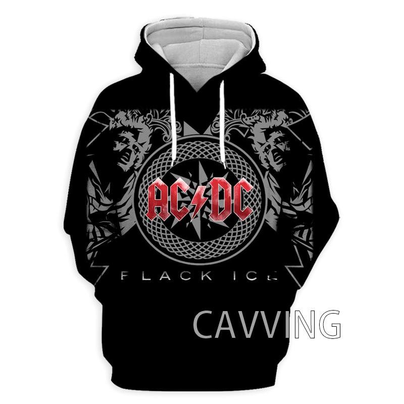 Новые модные женские/мужские 3D печать AC DC толстовки рок-группы толстовки с капюшоном в стиле Харадзюку Толстовка Кофты Верхняя одежда