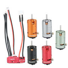RC Parts 1410 Brushless Motor + 18A Red ESC Set RC Car Replacement Accessory Spare Part RC Toy Accessory