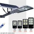 50 Вт/100 Вт/200 Вт/300 Вт Светодиодный светильник на солнечных батареях для улицы, высокий яркий Солнечный уличный светильник с дистанционным уп...