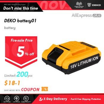 DEKO-Taladro Inalámbrico DC, Nuevo Diseño, Batería de Litio, Batería