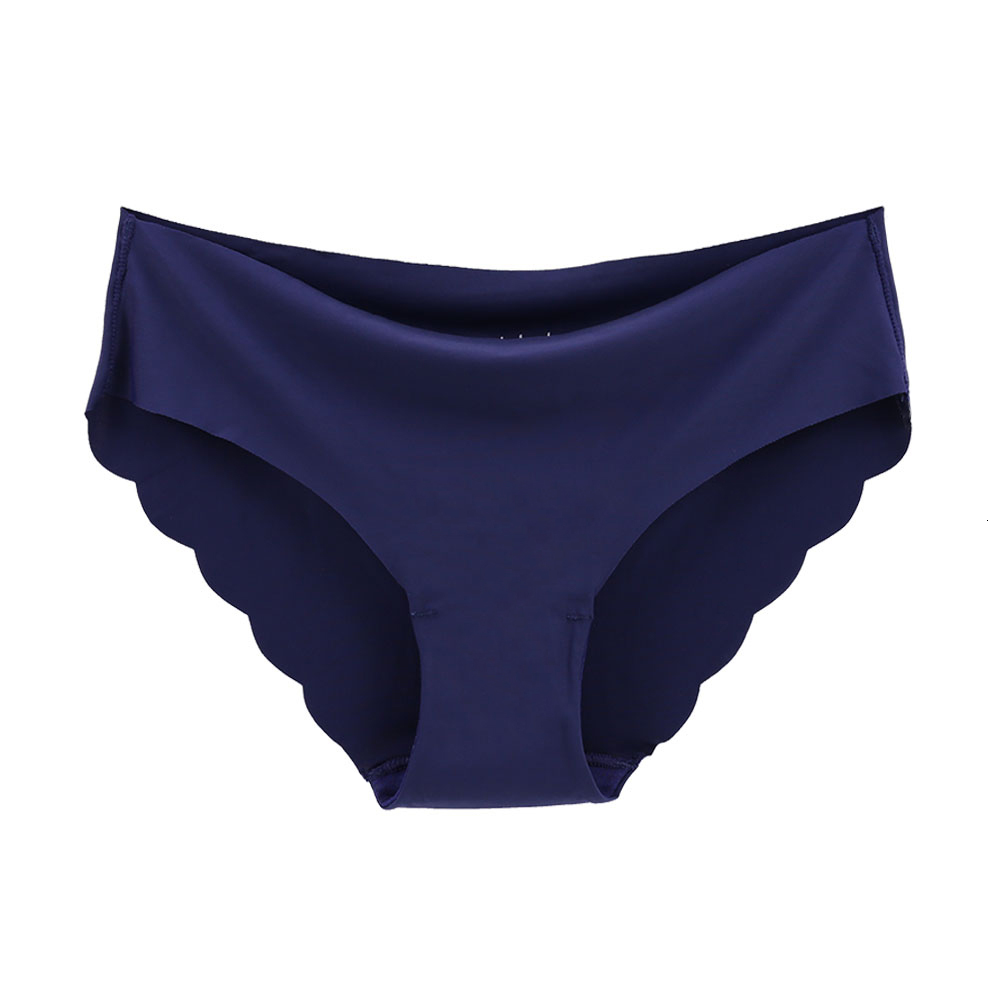 Women Panties Sexy Ruffles Solid Colour Underwear Ice-silk Low Rise Panty Female Seamless Briefs Ultra-thin Lingerie For Ladies