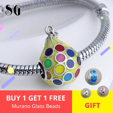 Fit Authentic pandora Charms Bracelet Silver 925 Original color Hot Air Balloon Beads For Women Colorful Enamel Fashion Jewelry