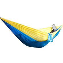 Travel Double Hammock Camping Parachute Hammock Survival Garden Outdoor Furniture Leisure Sleeping Hamaca 270x140cm/106.3x55.1in hammock outdoor hammocks camping garden furniture hammock