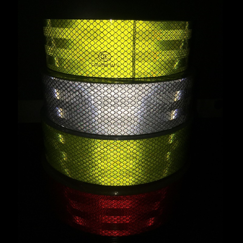 PET Super Reflective Self-adhesive Tape Truck Car Motorcycle Road Traffic Warning Safety Sticker Furniture District Warning Sign