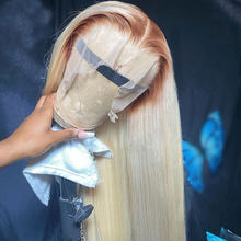 150% 4/613 Honey Blonde Transparent Lace Wigs Pre Plucked Brazilian Remy Straight Lace Front Human Hair Wigs For Black Women