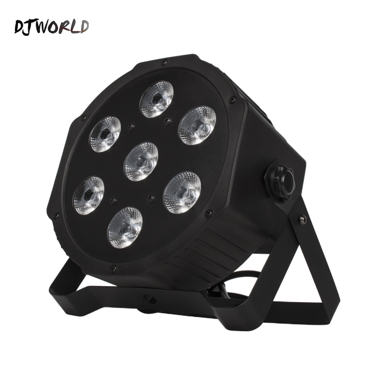 DJworld LED Flat Par 7x12W RGB 4IN1 Lighting DMX512 LED Stage Lighting DJ Disco Show Club Party Lights Top Selling Free Shipping