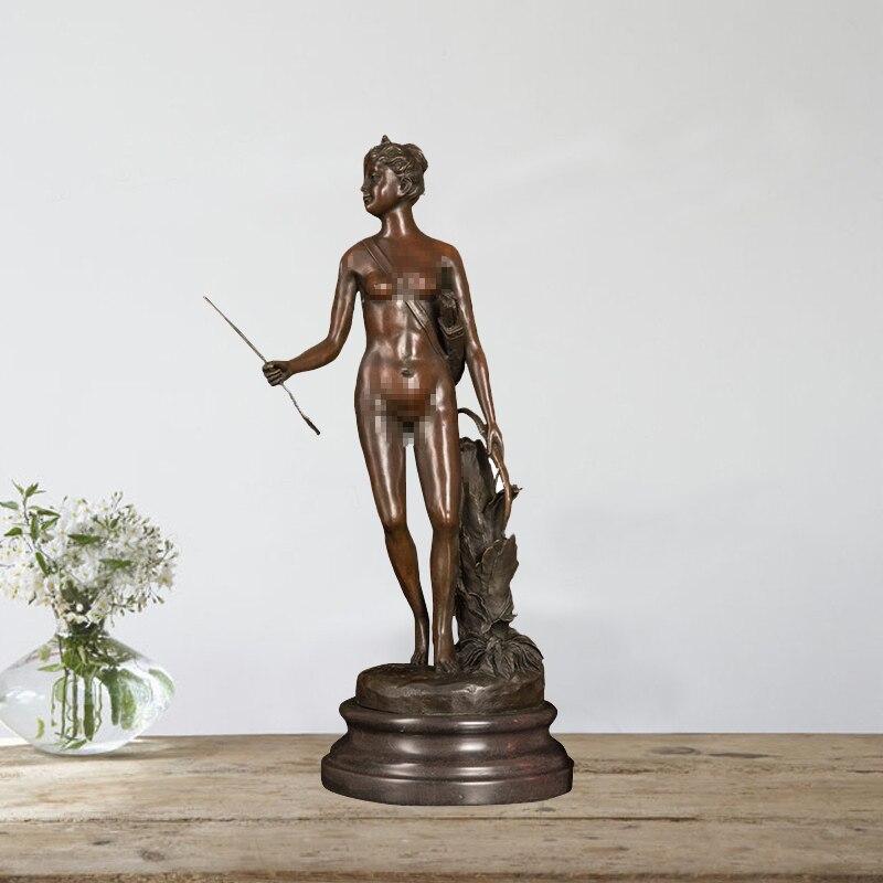 Bronze antiqut greek sculpture mythology art decor ancient bronze statue sculpture figure statue sculpture signed by P. Gaso Statues & Sculptures     - title=