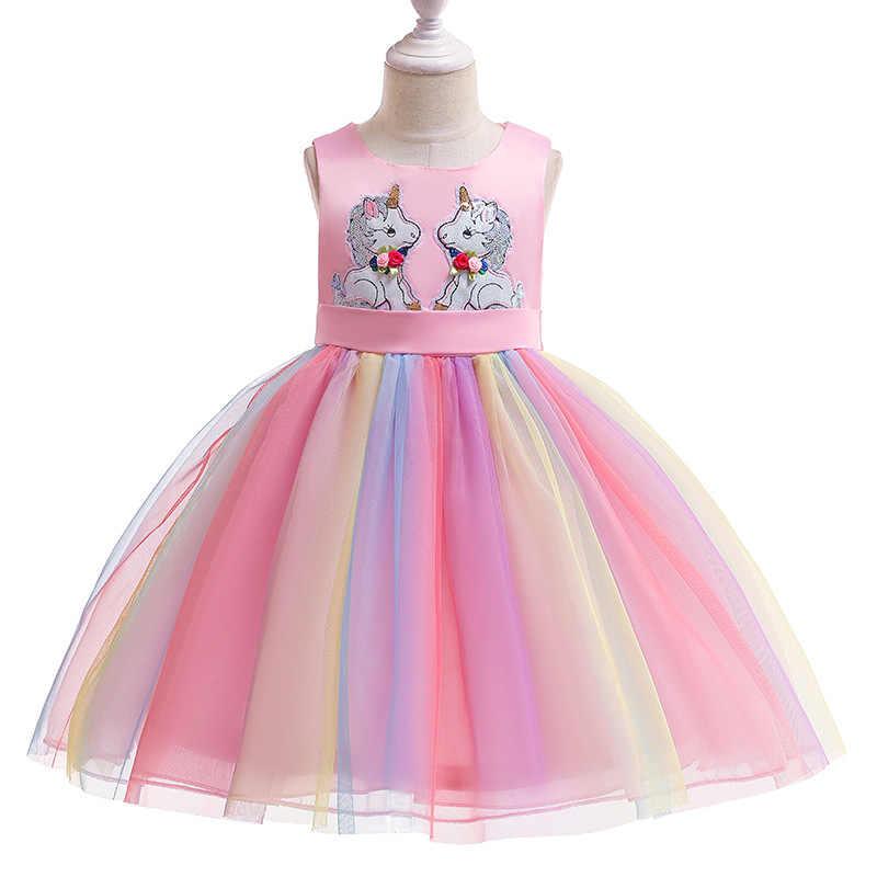 Vestido De Unicornio De Fantasia De Verano Para Cumpleanos Ninos Ninas Vestidos De Princesa Fiesta De Boda Carnaval Disfraz Ropa Ninos Vestidos Aliexpress