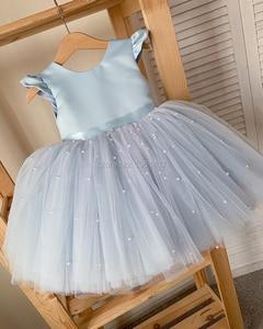 Laço quente fower meninas vestido de casamento do bebê meninas batismo bolo vestidos para festa crianças bebê menina vestido de aniversário 0 2 3 4 5 6 8y