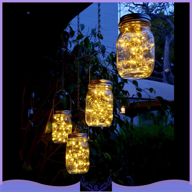 Mason Jar 20 Led Solar Lights Lids