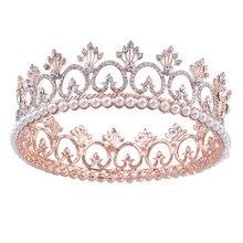 цена на Clear Crystal Peacock Crowns , Bride Style Rhinestone Crown Tiara Bridal Hair Jewelry Wedding Hair Accessories HG072