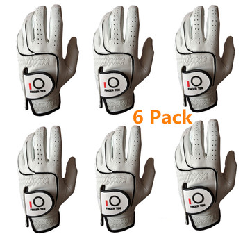 All Weather Grip Cabretta Leather Golf Gloves Men Left Hand Right Rh Lh 6 Pack Golfer Durable Breatherable Non-slip Player Set