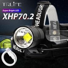 Faro delantero Led XHP70.2, recargable vía USB, XHP50, superbrillante, V6, para caza y ciclismo, uso impermeable, 18650