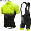 Phtxolue 2020, набор для велоспорта, Мужская одежда для велоспорта, одежда для горного велосипеда, дышащая, анти-УФ, одежда для шоссейного велосипе...