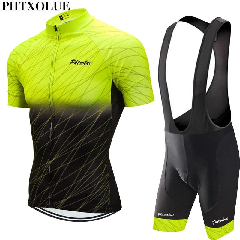 Phtxolue 2020 zestaw rowerowy mężczyźni odzież rowerowa MTB Bike odzież oddychająca Anti-UV Road odzież rowerowa zestaw koszulek rowerowych