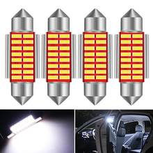 4x C5W LED CANBUS Bulb Error Free Festoon 36mm Car Interior Lights Dome Lamp For Hyundai Accent Sonata Santa fe Tucson Elantra