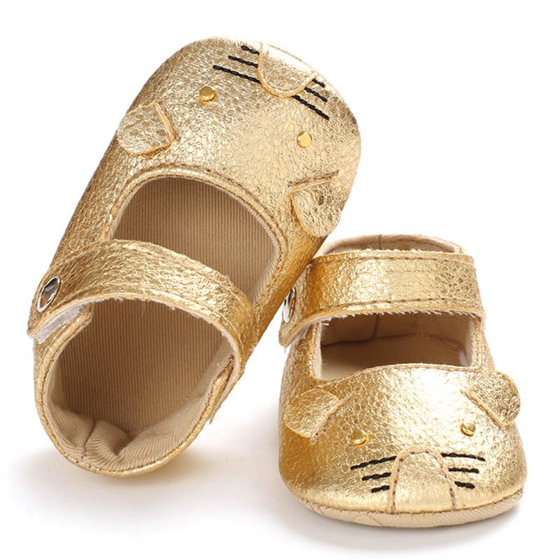 Infant Girls Shoes Autumn Newborn Baby Girls Shoes Cartoon Print Anti-Slip Casual Sneakers Toddler Soft Soled Walking* L