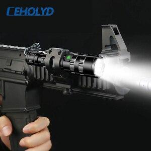 Image 2 - LED 손전등 전문 전술 손전등 토치 사냥 밤 스카우트 세트 L2 물고기 빛 USB 충전식 방수