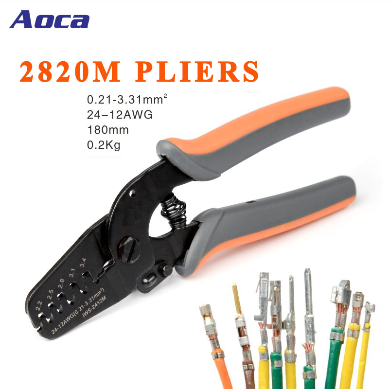 IWS-2820M Crimping Tools for JAM Molex Tyco JST Terminal and Connector Multi-function wire Stripper Cable Cutter plier