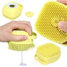 Щетка для ванны Расческа для домашних животных спа массаж Мягкая силиконовая кисть материал для расчесывания волос инструмент для очистки ...