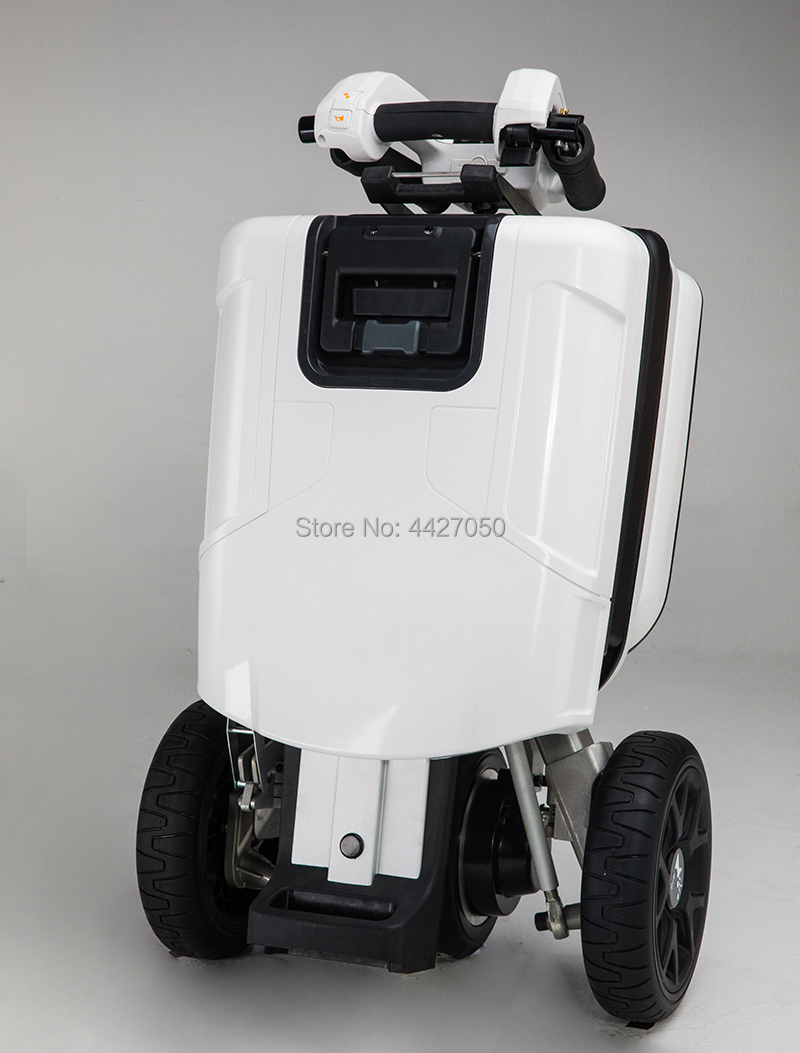Small Electric Mobility Scooter Luggage Folding Adult Disabled Tricycle Lithium Battery