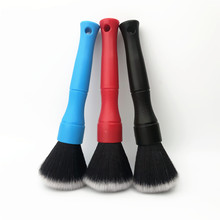 Lucullan 16cm escova de limpeza portátil ultra macio cabelo detalhando ferramentas para painel interior condição ar do painel