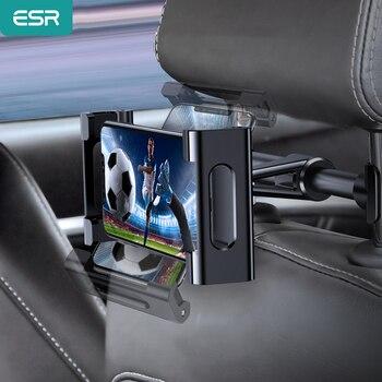 ESR Car Tablet Phone Holder Ajustable iPad Stand Car Back Seat Holder For Headrest 360 Rotation Car-mounted Holder for iPad