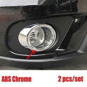 For Dodge Journey Fiat Freemont 2011 2012 2013 2014 2015 2016 2017 2018 ABS Chrome Front Fog Light Lamp Foglight Trim Cover 2PCS(China)