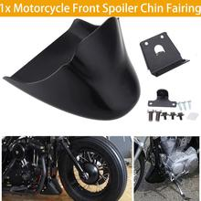 1x Motorcycle Front Spoiler Chin Fairing For Harley Sportster XL 883 1200 Black Bottom Mudguard Air Dam