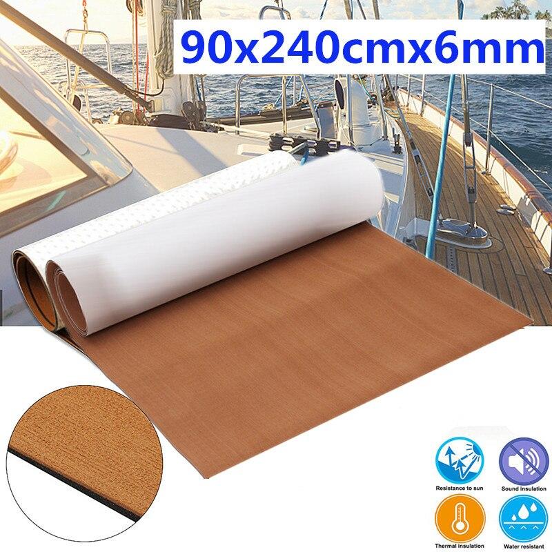 240x90cm Grey EVA Foam Teak Sheet 6mm Boat Flooring Faux Teak Decking Sheet Pad