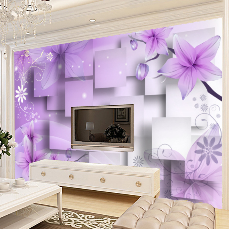 3D Wallpaper TV Background Wallpaper Mural Large Seamless Wall Cloth Living Room Nonwoven Fabric Sofa Film And Television Wall P