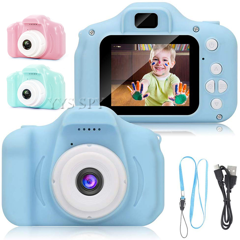 Cute Kids Mini Digital Photo Video Camera 2.0 inch HD Screen Small Toy Vlog Camcorder Videocamera Micro Cam Children Best Gift image