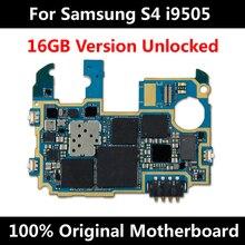 עבור סמסונג גלקסי S4 i9505 16GB המקורי סמארטפון טלפון רשמי האם 100% באיכות טובה Mainboard עם שבבי היגיון לוח