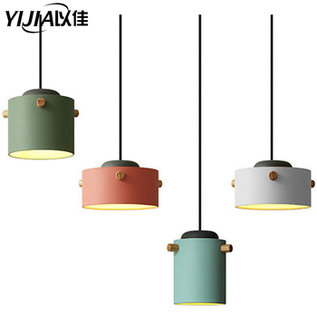 Nordic pendant light led Minimalism droplight E27 220V Modern Colorful Home Kitchen lamp decor lighting lamp and Bar Showcase