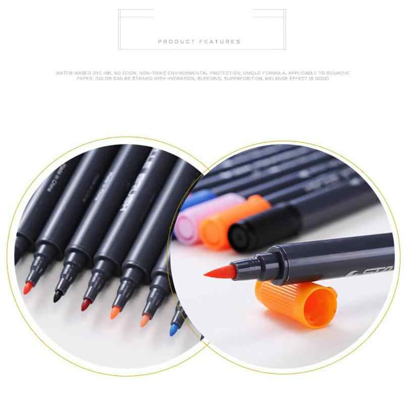 دروب شيبينغ المزدوج تلميح فرشاة ألوان مائية علامات-ستا غير سامة المياه القائمة حروف ماركر الخط أقلام
