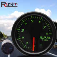 """2"""" 52mm car tachometer for boat motor 12V 1-10 Cylinder 7 colors rpm meter gauge auto outboard engine tachometer shift light led"""