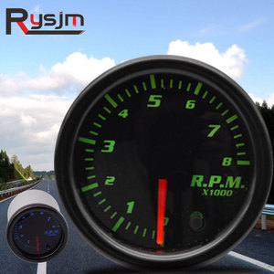 "2"" 52mm car tachometer for boat motor 12V 1-10 Cylinder 7 colors rpm meter gauge auto outboard engine tachometer shift light led(China)"