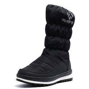 Image 2 - FEDONAS الدافئة مريحة الإناث الشقق منصة الثلوج الأحذية الشتاء جديد سستة النساء منتصف العجل الأحذية مكتب عادي الأساسية أحذية امرأة