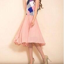 Customize size 3XS-8XL Women Summer Chiffon Solid midi Skirt show shin elastic waistband all-match elegant Skirts saias jupes