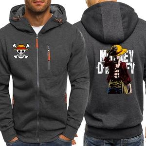 Image 2 - Luffy ONE PIECE Anime Series Hoodies Men Jacket 2019 Autumn Winter Casual Coat Harajuku Mens Hoodie Sweatshirts Hip Hop Hoody