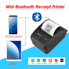 Portable Mini Bluetooth Printer Thermal Receipt Ticket Printer For Mobile Android iOS Phone 58mm Bill Machine For Store недорого